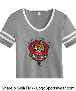 Ladies Varsity Vintage 50/50 Tee Design Zoom